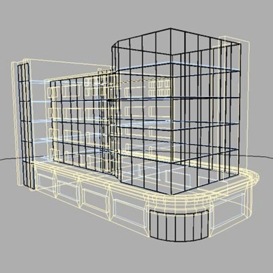 Office Building or Mall royalty-free 3d model - Preview no. 2