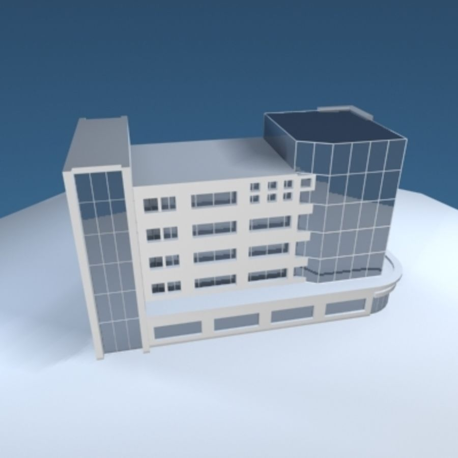 Office Building or Mall royalty-free 3d model - Preview no. 1