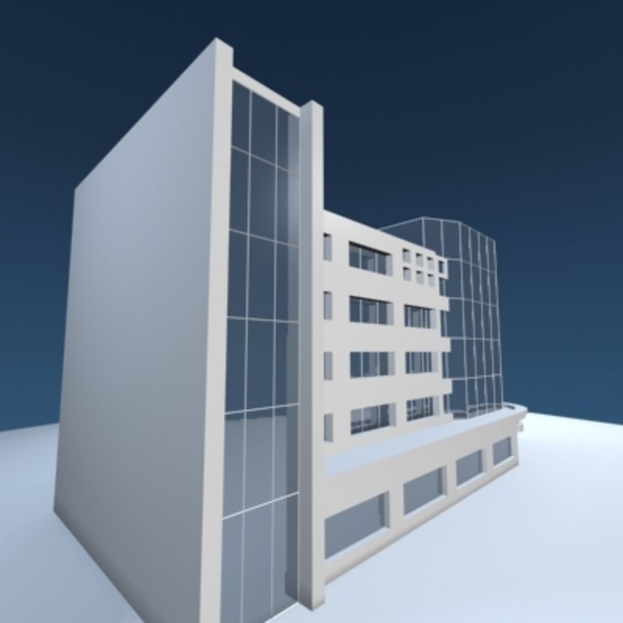 Office Building or Mall royalty-free 3d model - Preview no. 6