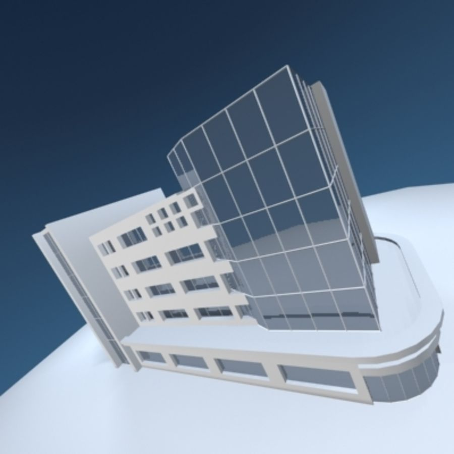 Office Building or Mall royalty-free 3d model - Preview no. 7