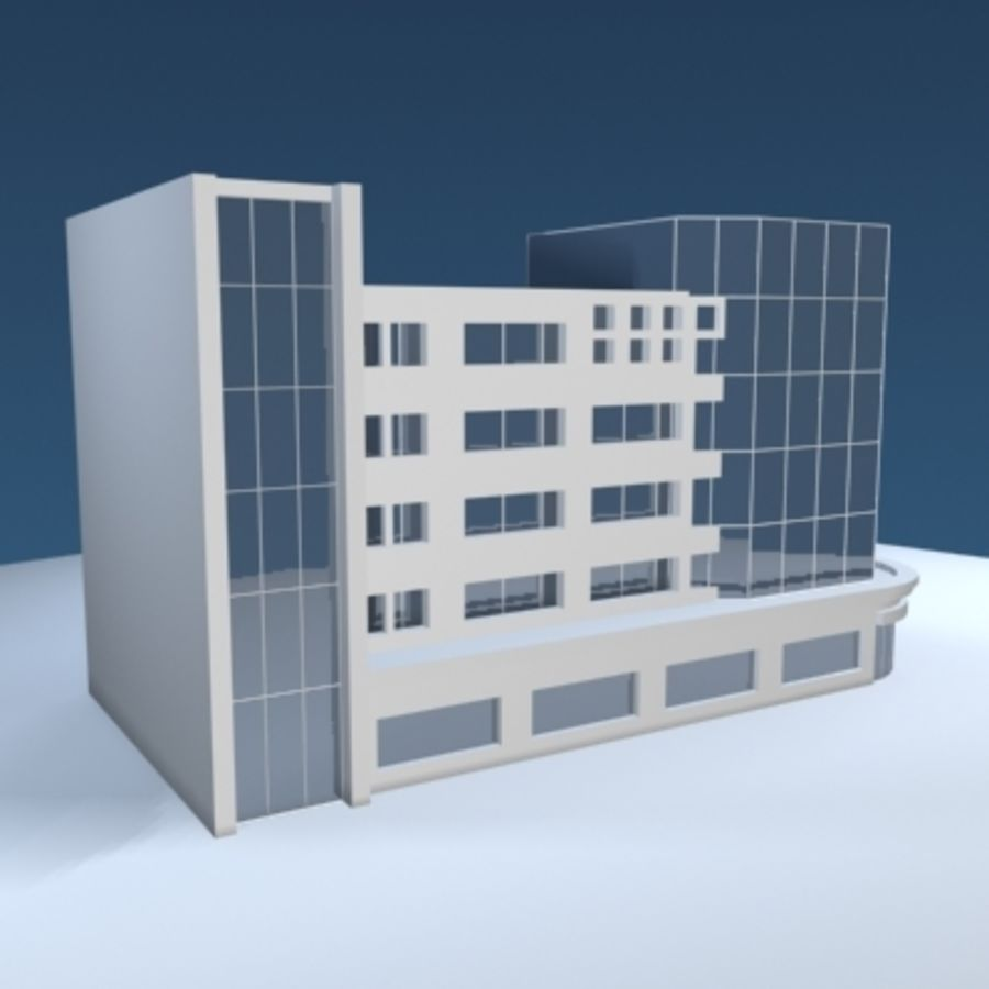Office Building or Mall royalty-free 3d model - Preview no. 4