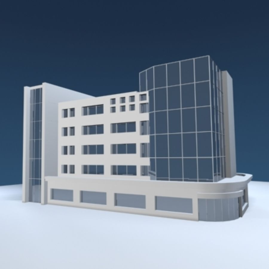 Office Building or Mall royalty-free 3d model - Preview no. 3