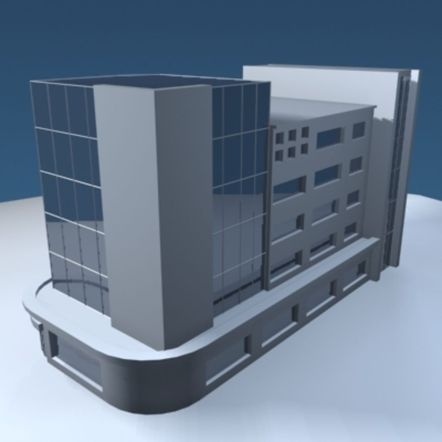 Office Building or Mall royalty-free 3d model - Preview no. 5