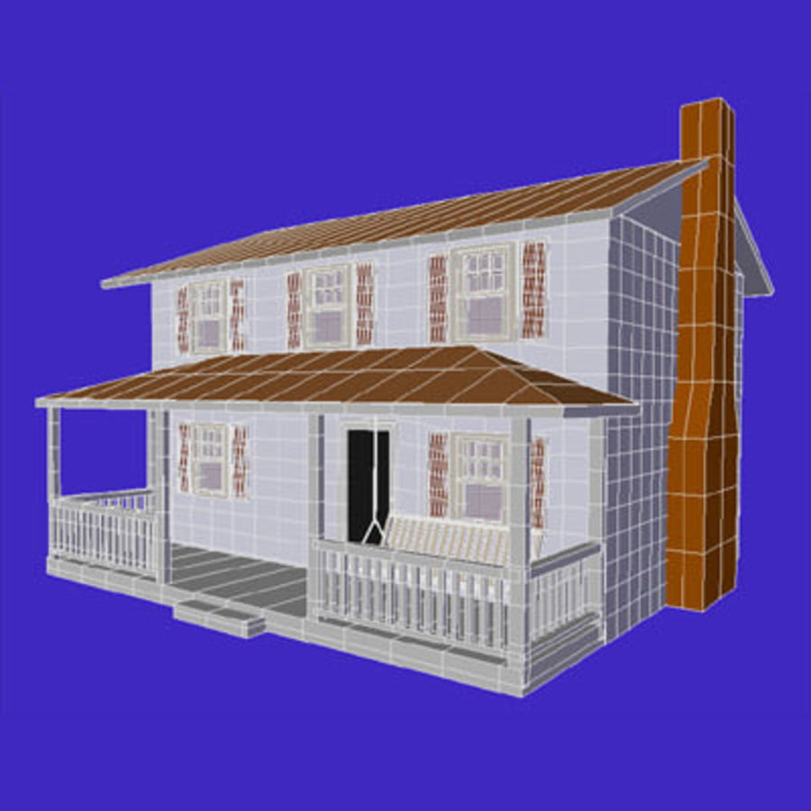 country_house.lwo royalty-free 3d model - Preview no. 6