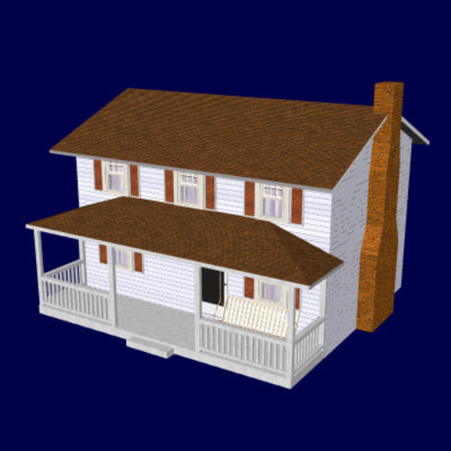 country_house.lwo royalty-free 3d model - Preview no. 1