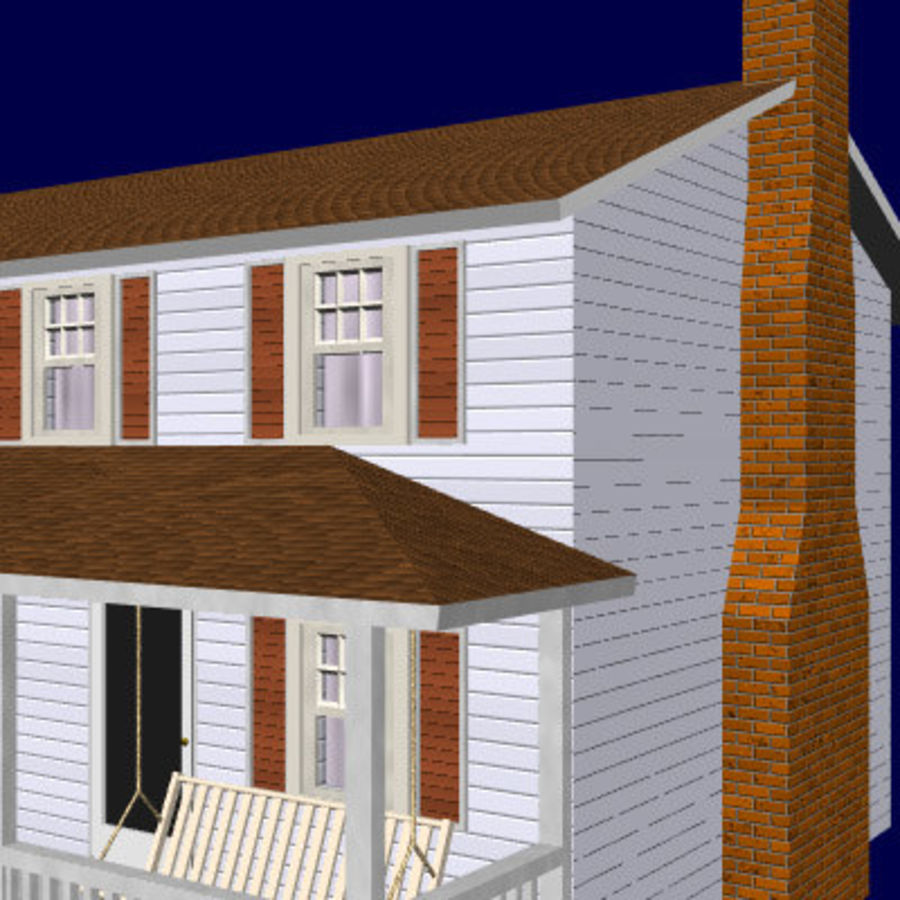 country_house.lwo royalty-free 3d model - Preview no. 3