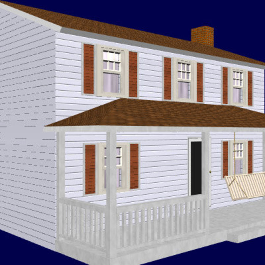 country_house.lwo royalty-free 3d model - Preview no. 2