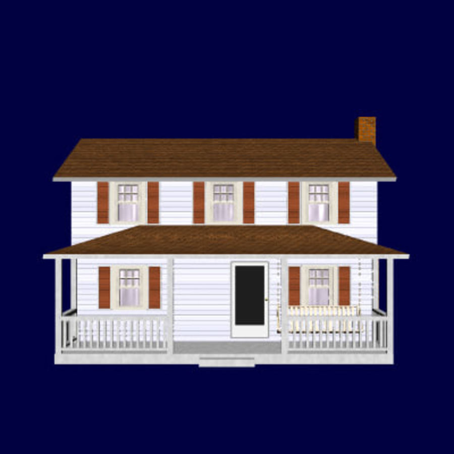 country_house.lwo royalty-free 3d model - Preview no. 5