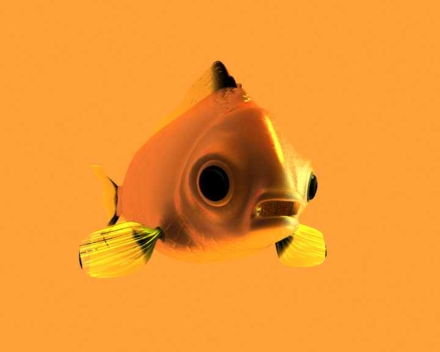 Gold Fish royalty-free 3d model - Preview no. 7