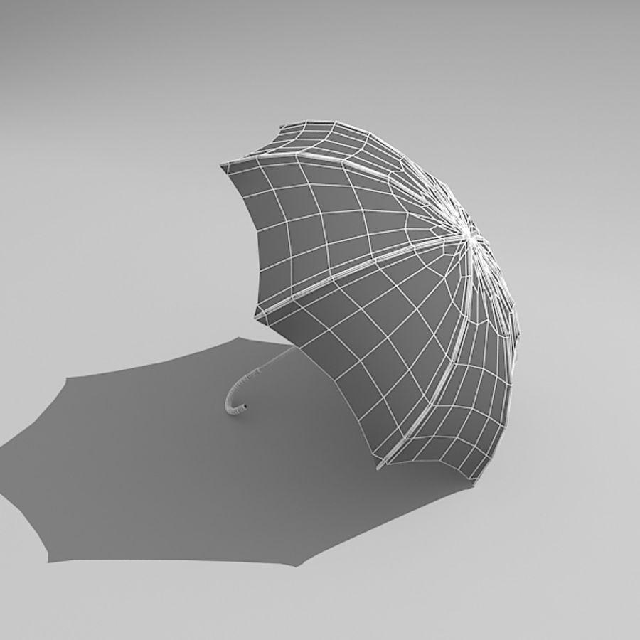 Simple Open Umbrella royalty-free 3d model - Preview no. 5