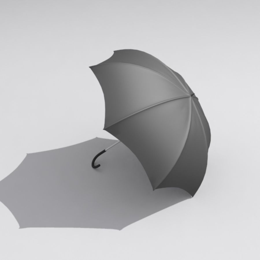 Simple Open Umbrella royalty-free 3d model - Preview no. 2