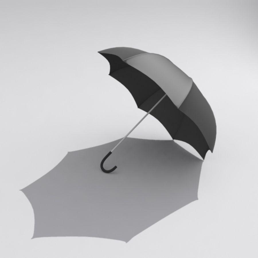 Simple Open Umbrella royalty-free 3d model - Preview no. 1