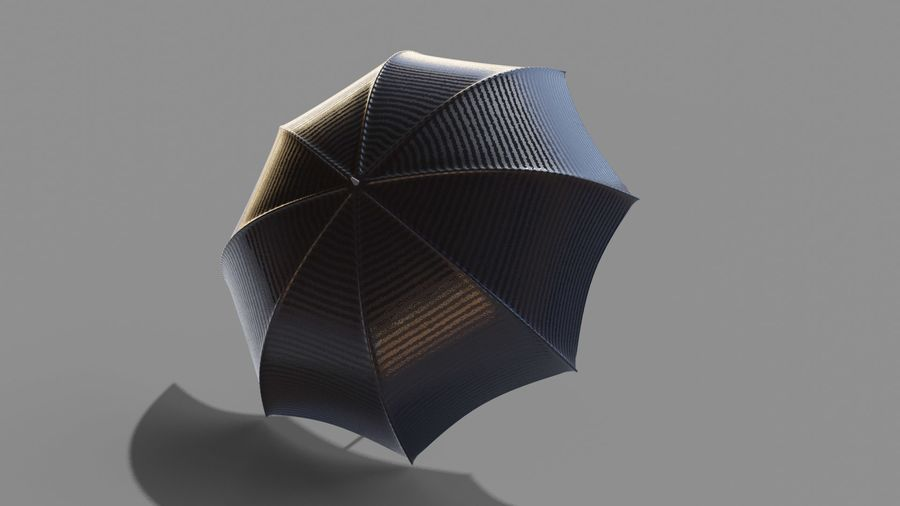Open Umbrella royalty-free 3d model - Preview no. 4