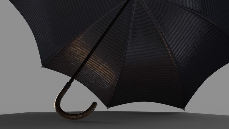 Open Umbrella royalty-free 3d model - Preview no. 5