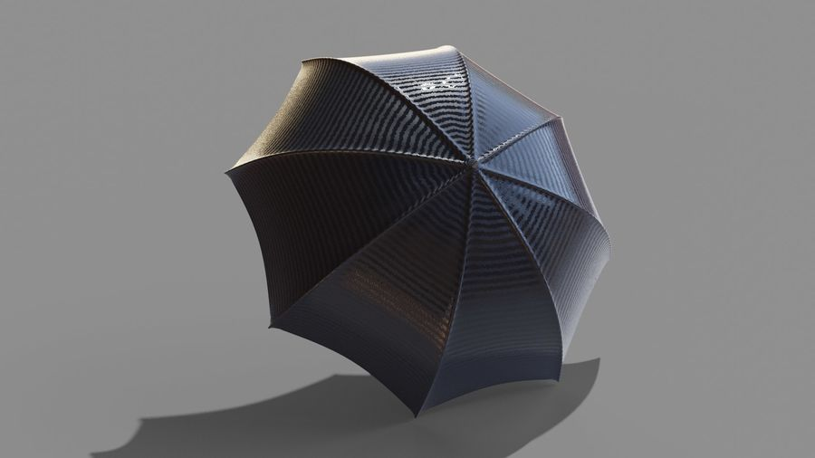 Open Umbrella royalty-free 3d model - Preview no. 3
