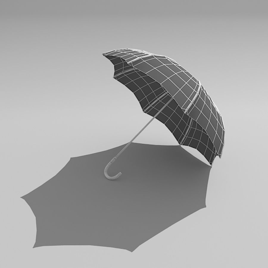 Simple Open Umbrella royalty-free 3d model - Preview no. 6