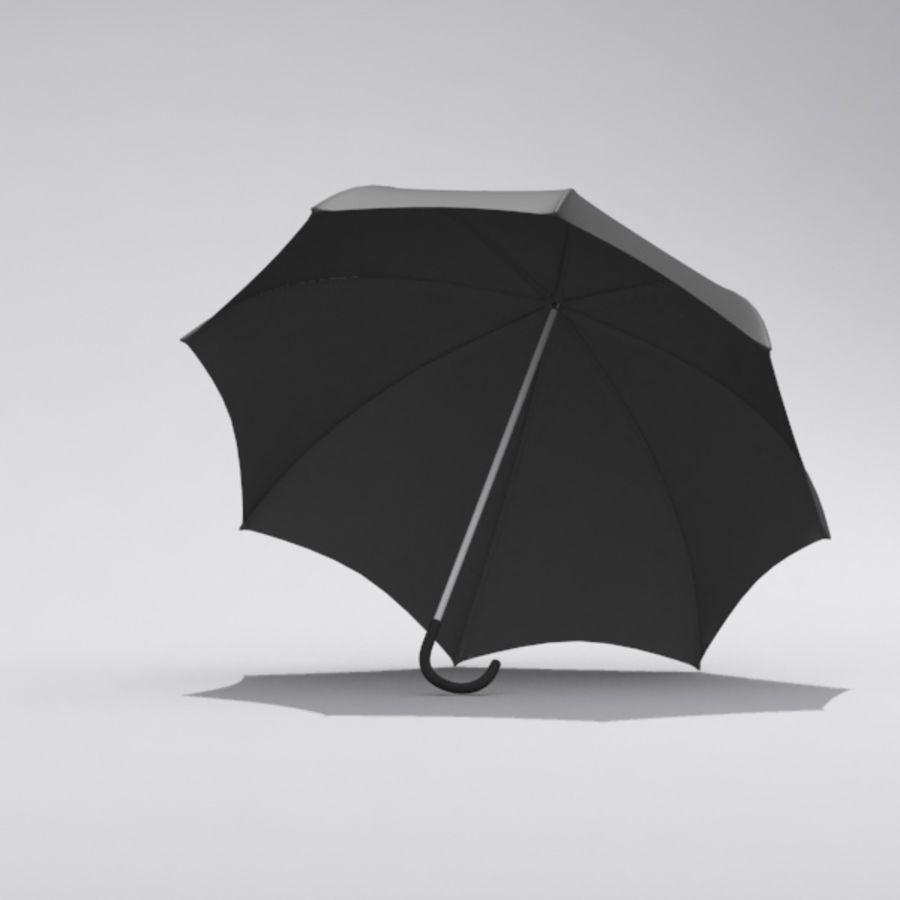 Simple Open Umbrella royalty-free 3d model - Preview no. 4