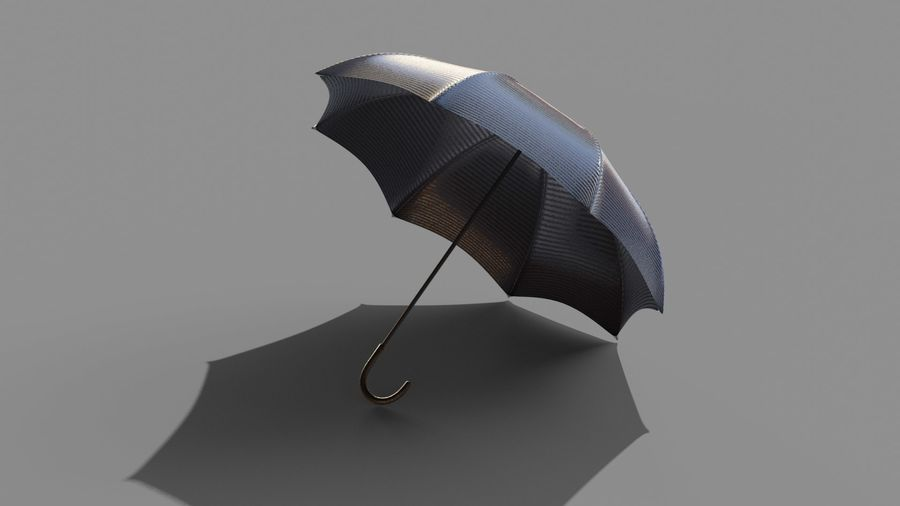 Open Umbrella royalty-free 3d model - Preview no. 2