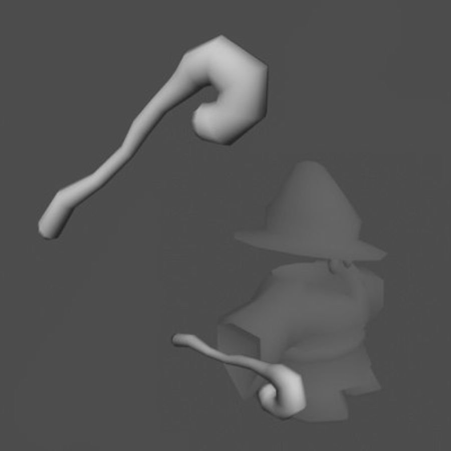 ACC Mage royalty-free 3d model - Preview no. 7