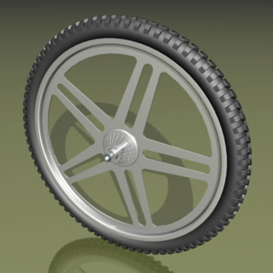 Two types of bicycle wheels royalty-free 3d model - Preview no. 4