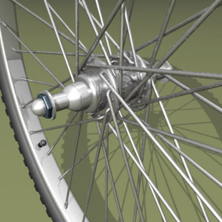 Two types of bicycle wheels royalty-free 3d model - Preview no. 5