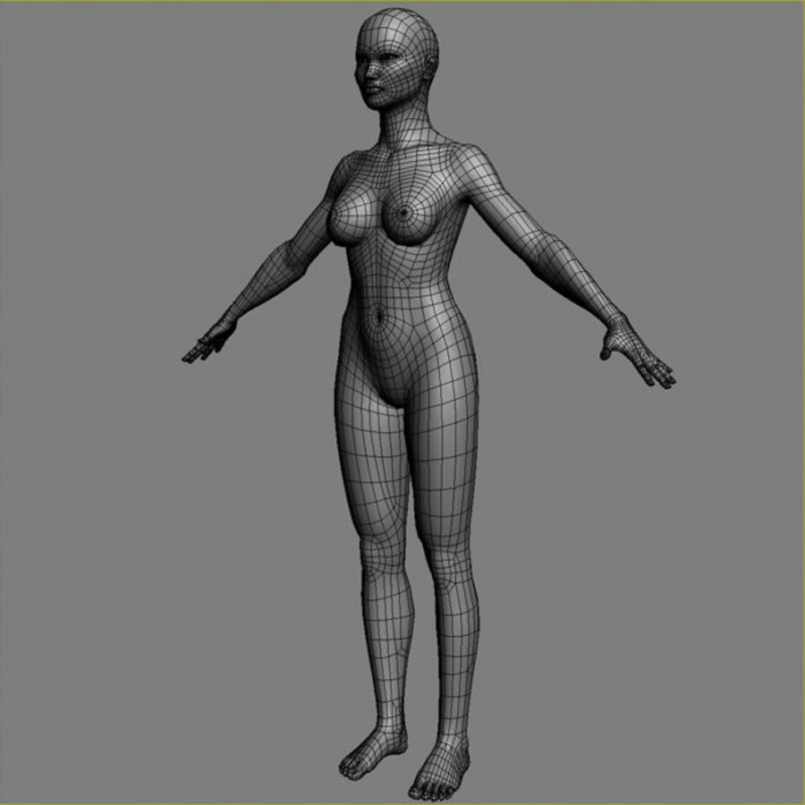 Asian Female 3d Model royalty-free 3d model - Preview no. 10