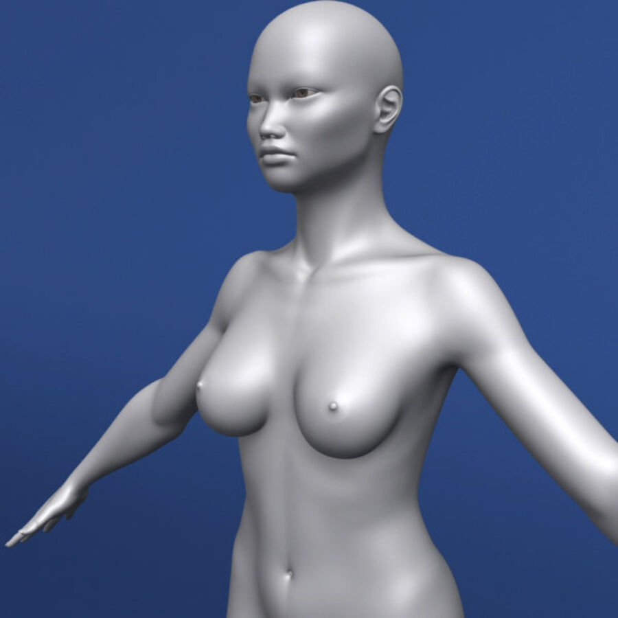 Asian Female 3d Model royalty-free 3d model - Preview no. 4