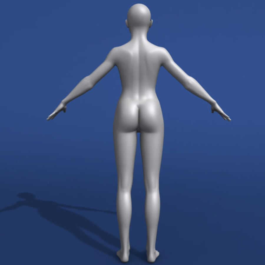 Asian Female 3d Model royalty-free 3d model - Preview no. 6