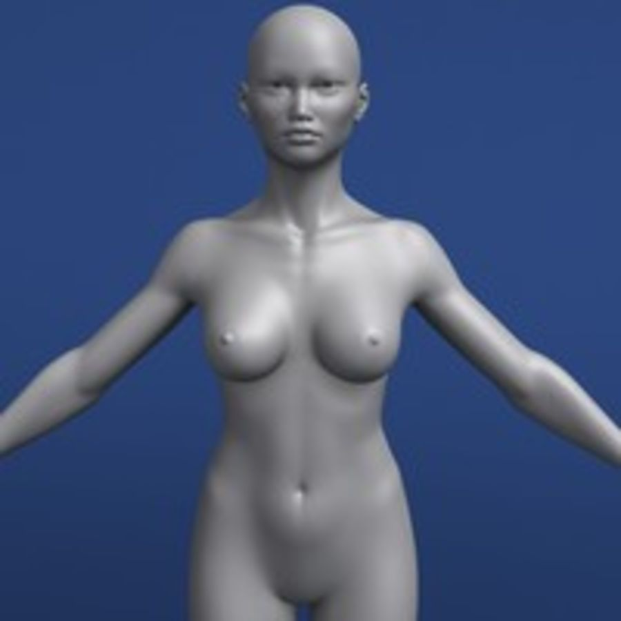 Modèle 3d femme asiatique royalty-free 3d model - Preview no. 7