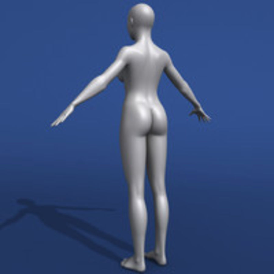Modèle 3d femme asiatique royalty-free 3d model - Preview no. 8