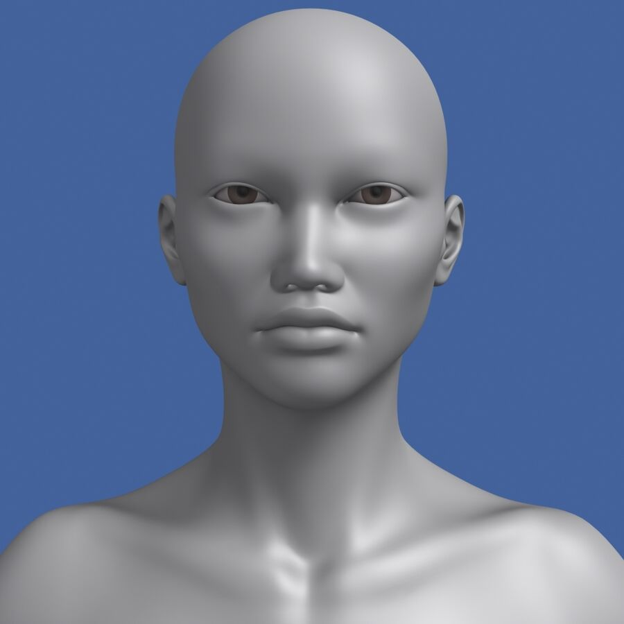 Asian Female 3d Model royalty-free 3d model - Preview no. 1