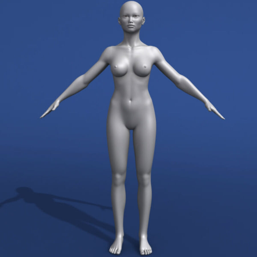 Asian Female 3d Model royalty-free 3d model - Preview no. 5