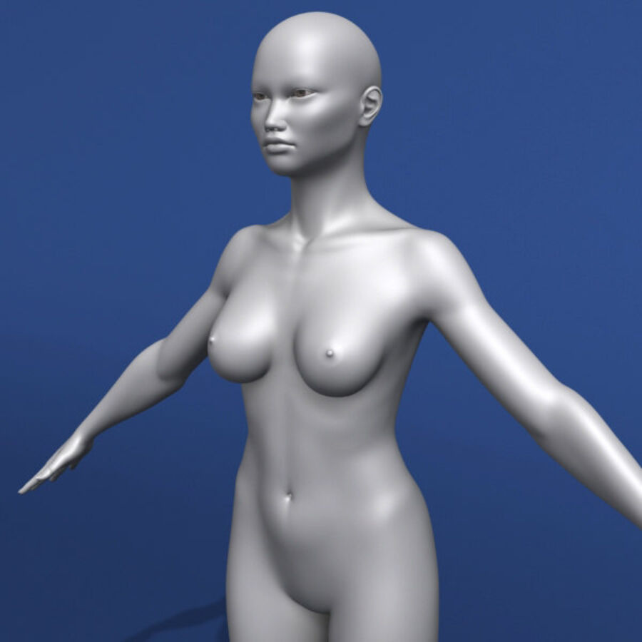 Asian Female 3d Model royalty-free 3d model - Preview no. 3