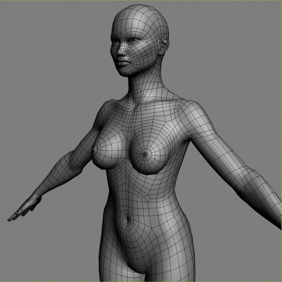 Asian Female 3d Model royalty-free 3d model - Preview no. 11