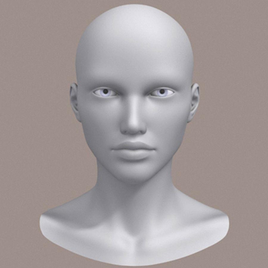 女性头3d模型 royalty-free 3d model - Preview no. 6