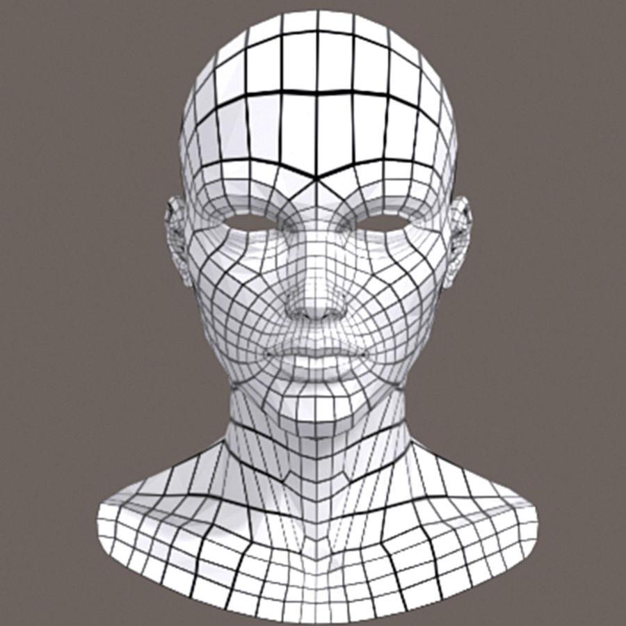 女性头3d模型 royalty-free 3d model - Preview no. 7
