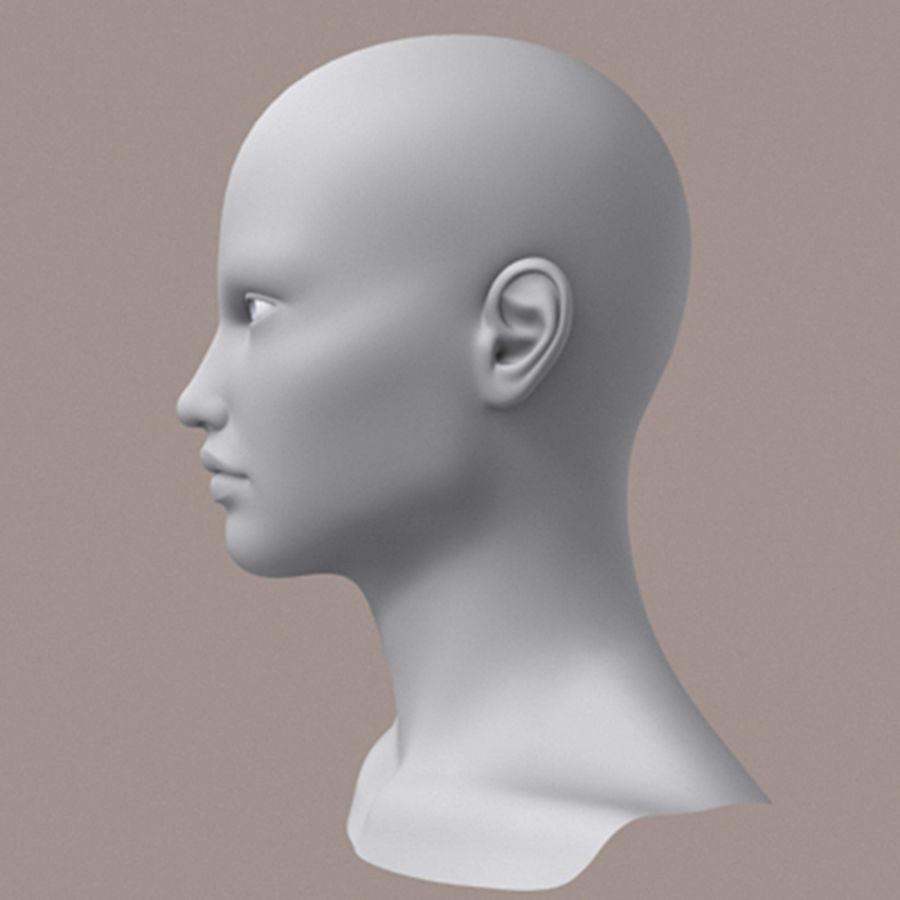 女性头3d模型 royalty-free 3d model - Preview no. 5