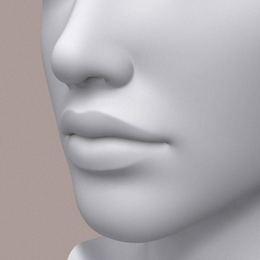 女性头3d模型 royalty-free 3d model - Preview no. 3