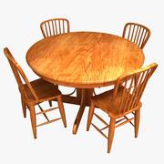 朝食用テーブル 3d model