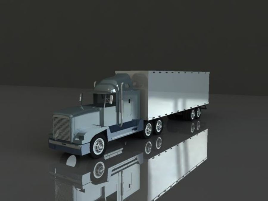 Semi truck royalty-free 3d model - Preview no. 1