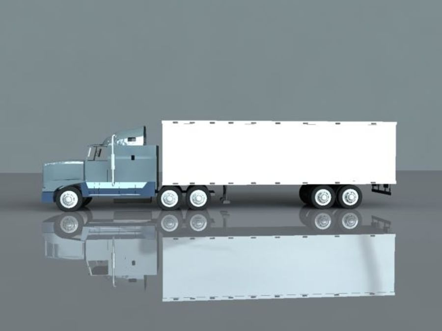 Semi truck royalty-free 3d model - Preview no. 2