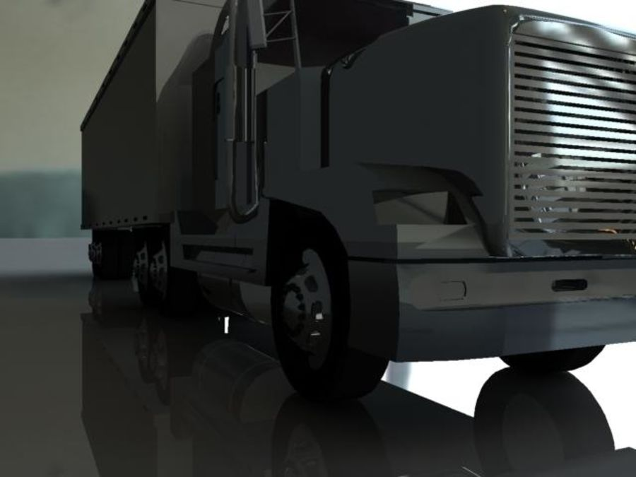 Semi truck royalty-free 3d model - Preview no. 3