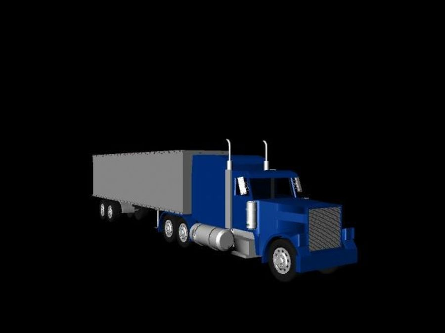 Semi truck royalty-free 3d model - Preview no. 6