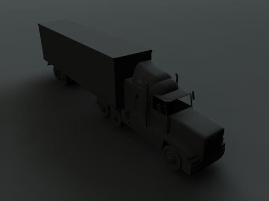 Semi truck royalty-free 3d model - Preview no. 5