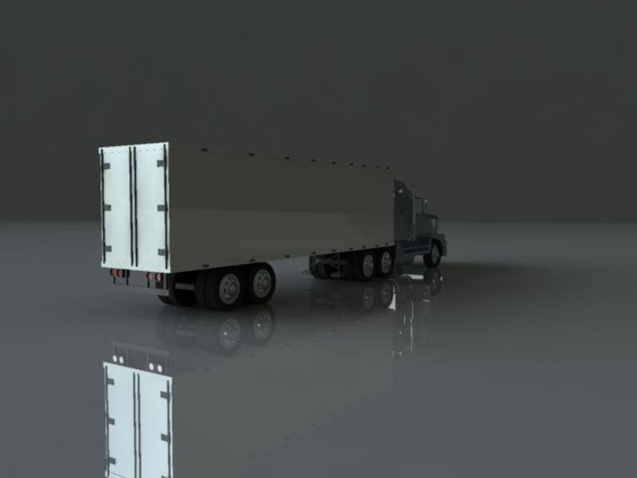 Semi truck royalty-free 3d model - Preview no. 4