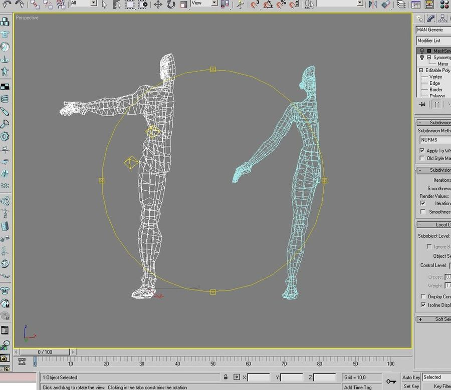Bodies: Male and Female royalty-free 3d model - Preview no. 7