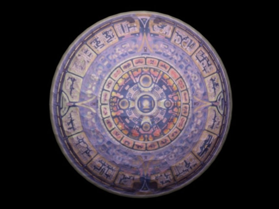 Toltec Shield royalty-free 3d model - Preview no. 1