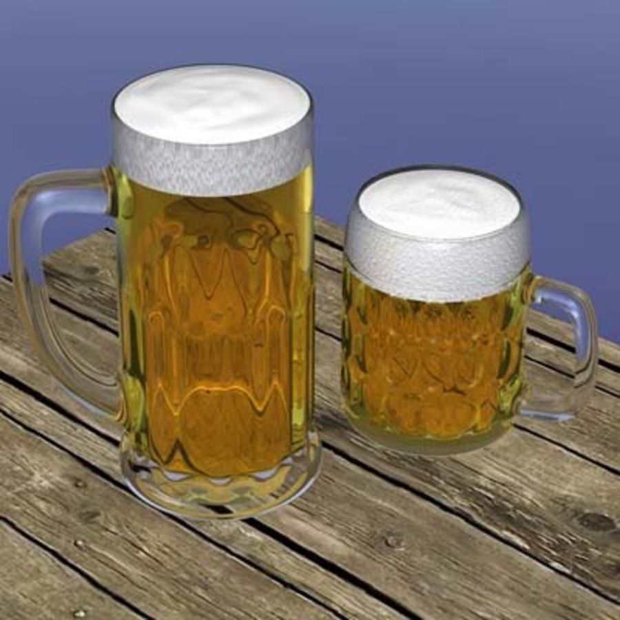 BEER royalty-free 3d model - Preview no. 1
