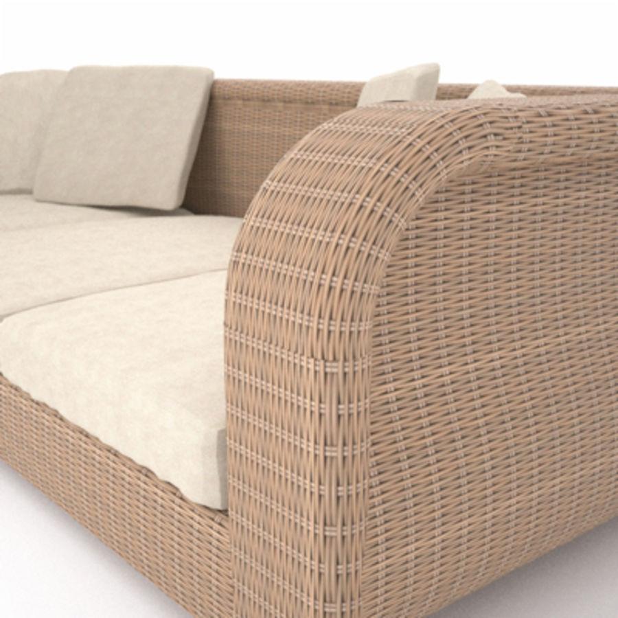 Rotting soffa royalty-free 3d model - Preview no. 5
