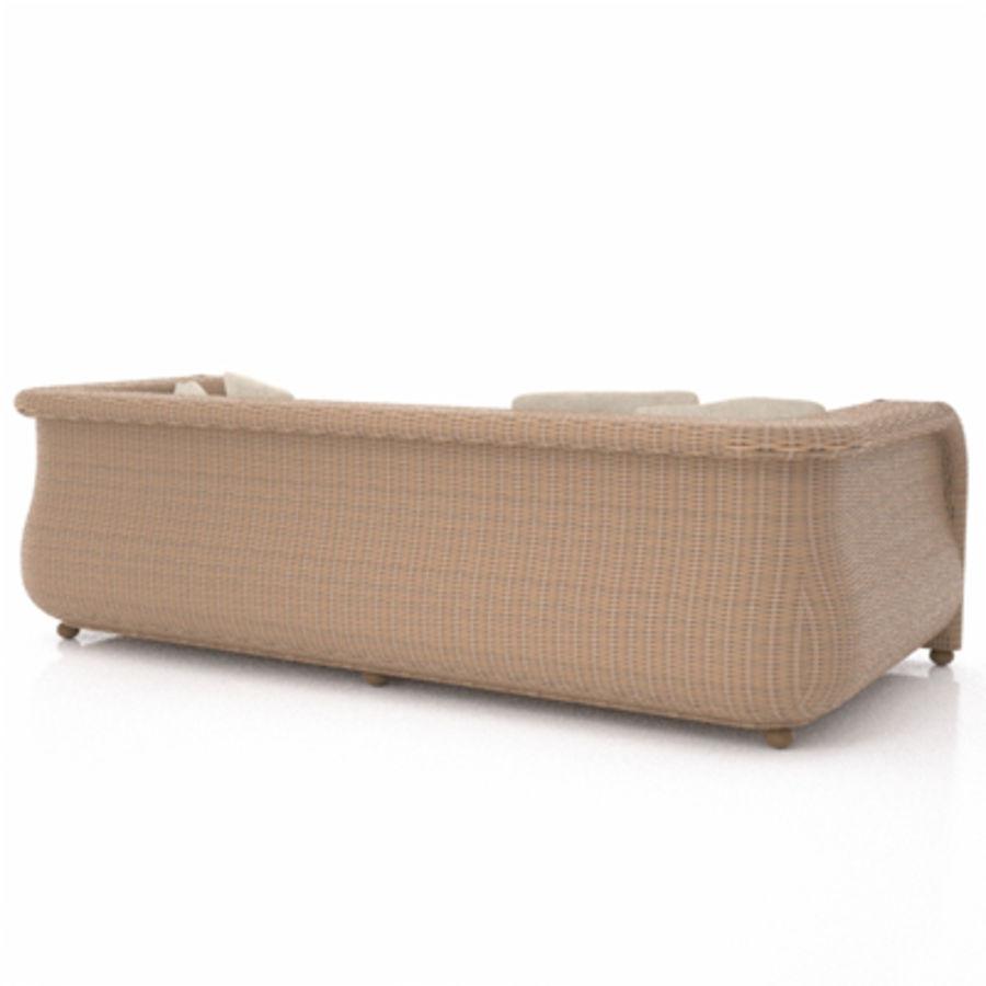 Rotting soffa royalty-free 3d model - Preview no. 6